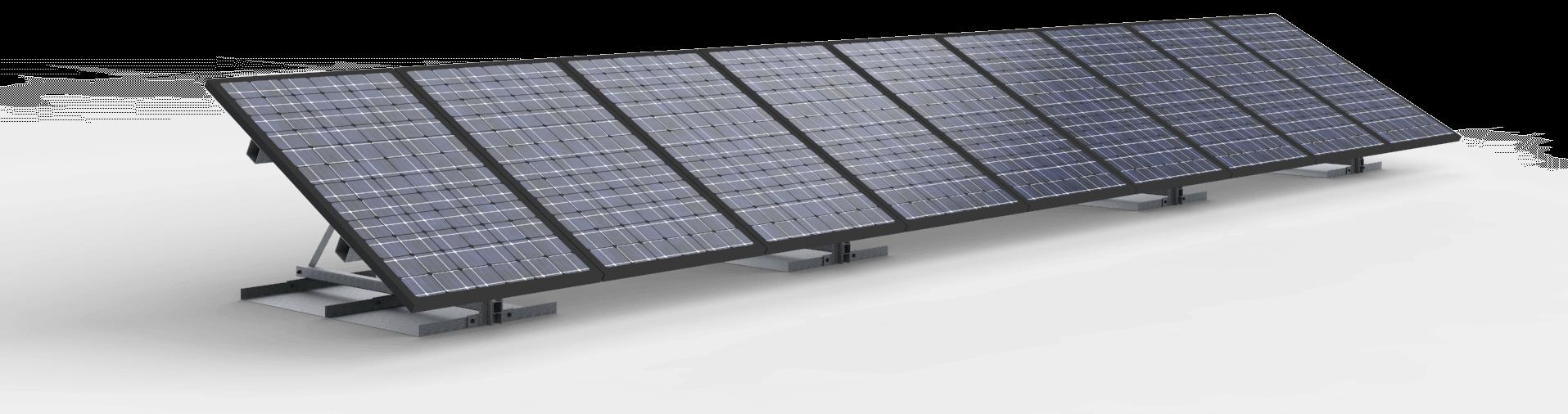 Vrije veldopstelling 9 zonnepanelen