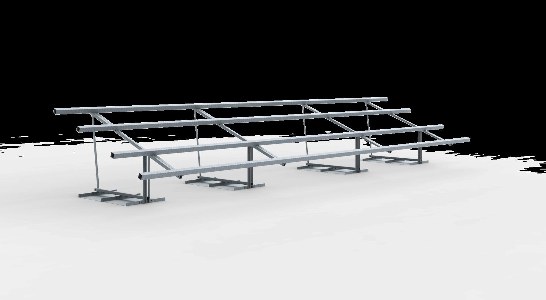 Frame vrije veldopstelling 18 zonnepanelen