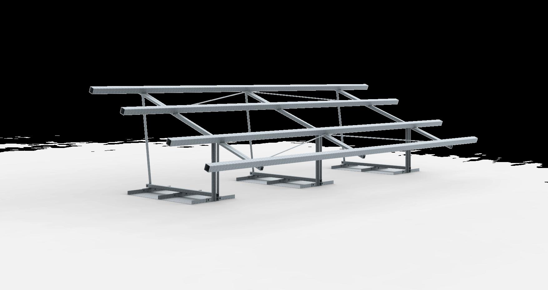 Frame vrije veldopstelling 12 zonnepanelen