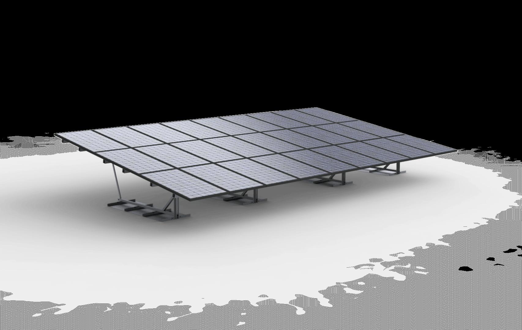 Vrije veldopstelling 27 zonnepanelen