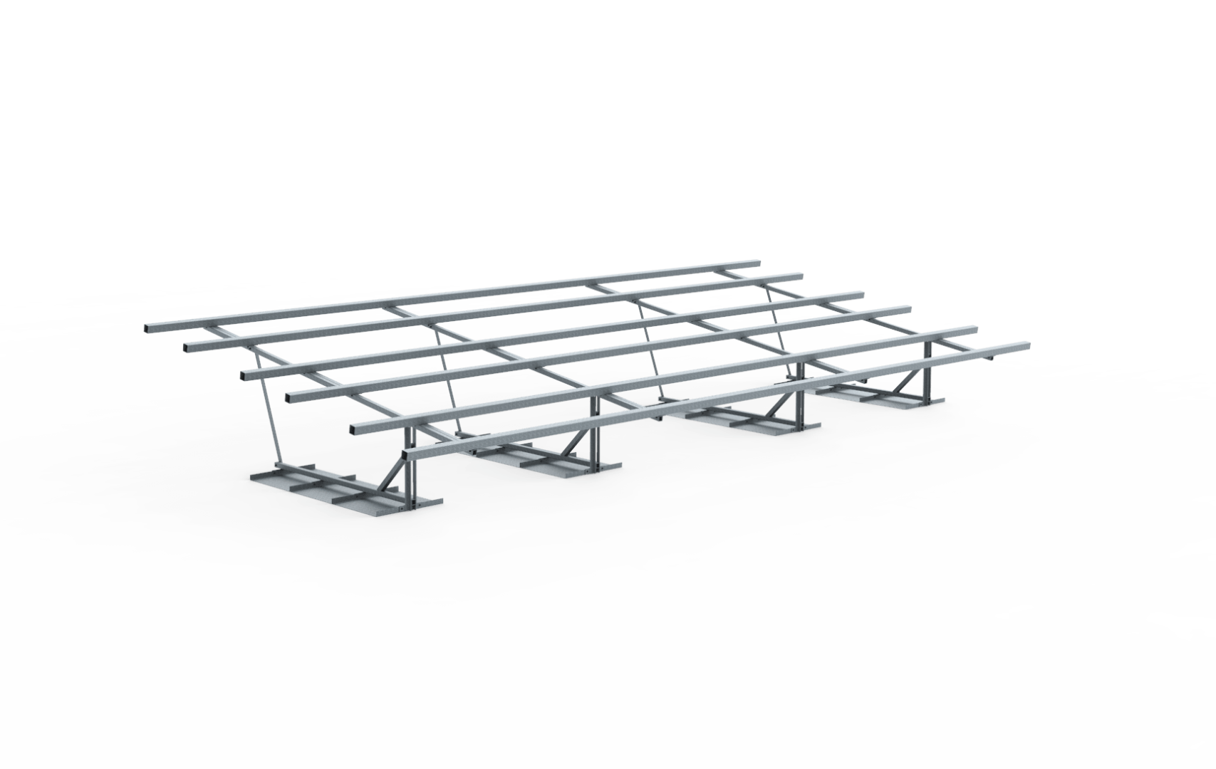 Frame vrije veldopstelling 27 zonnepanelen