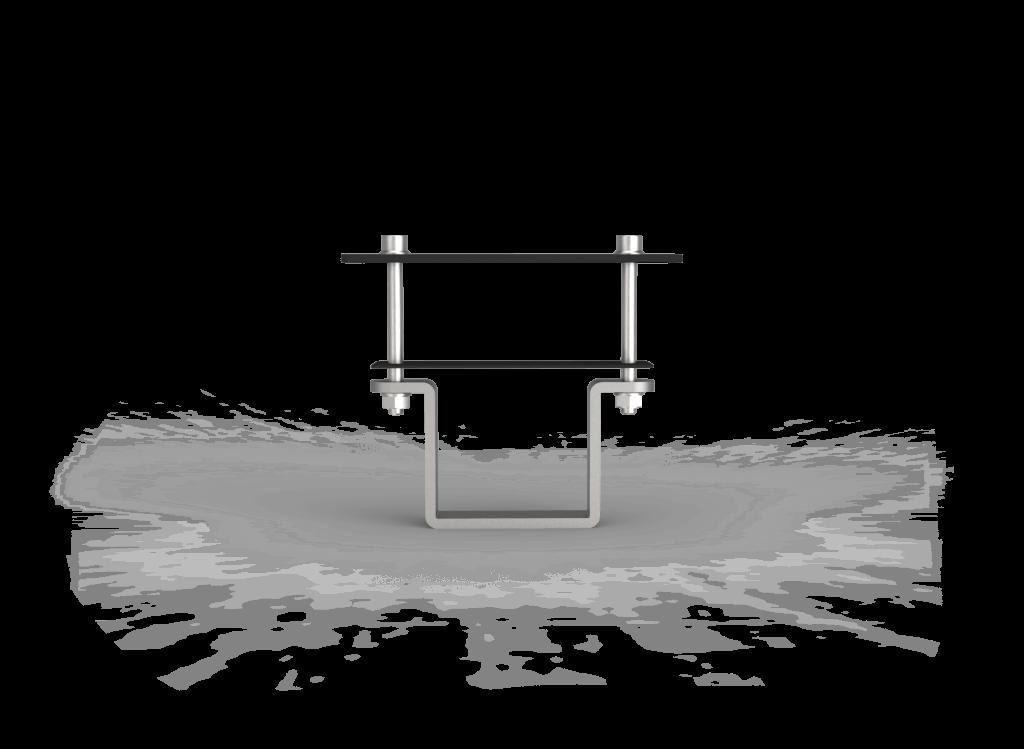 Vooraanzicht montagesysteem zonnepanelen op grond opstelling