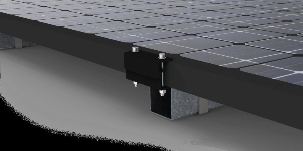 Zonnepanelen gemonteerd op SunTablet middels montagesysteem