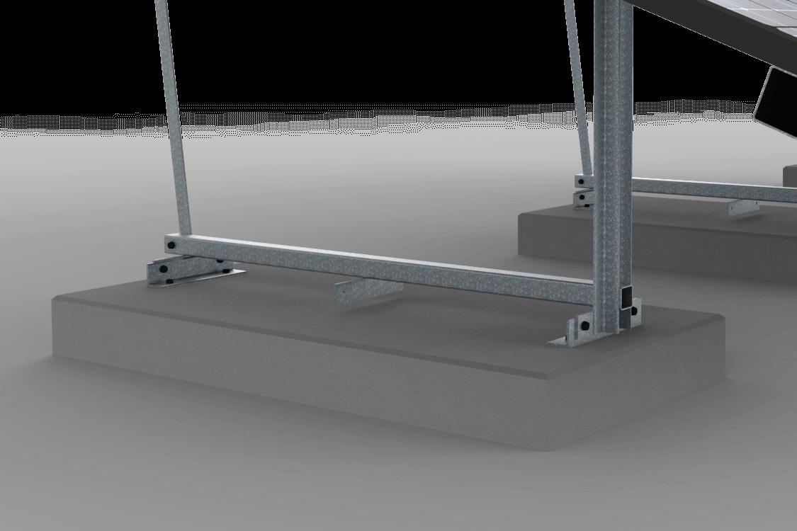 Verankering van de vrije veldopstelling op betonplaat